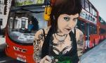Julia acrylic and oil on canvas 125 cm x 75 cm