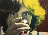 Through a Glass Darkly acrylic and oil on canvas 75 cm x 55 cm