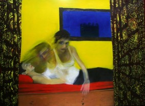 Miriam: Resurrection acrylic and oil on canvas 75 cm x 55 cm