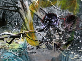 Symbiont Tilly Yew acrylic and oil on canvas 75 cm x 55 cm