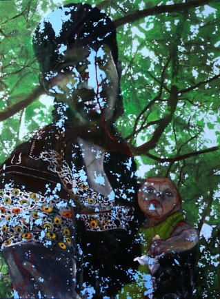 Symbiont James Plane acrylic and oil on canvas 55 cm x 75 cm