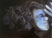 Avoiding Crab Mentality acrylic and oil on canvas 75cm x 55cm