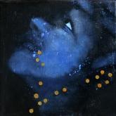 Bright acrylic and oil on canvas 20 cm x 20 cm