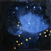 Diamonds acrylic and oil on canvas 20 cm x 20 cm