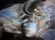 Ruminating Acrylic and oil on canvas 75cm x 55cm